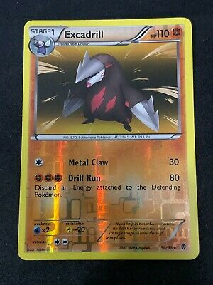 Pokemon TCG Excadrill 56/98 Reverse Holo Rare Emerging Powers NM