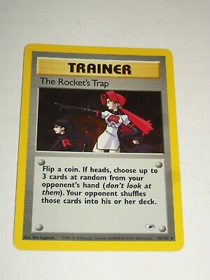 Pokemon TCG Gym Heroes THE ROCKET'S TRAP Holo Trainer Card NM/MINT UNPLAYED