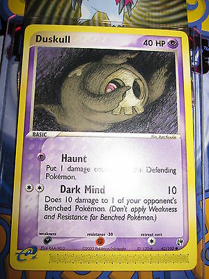 Pokemon Mint (◕‿◕✿) Ex Sandstorm English Duskull 62/100 Com 1st Edition (2003)