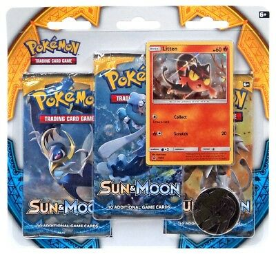 Pokemon X & Y Sun & Moon 3-Pack Special Edition [Litten]