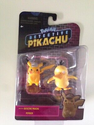 Pokemon Detective Pikachu and Psyduck Figure Wicked Cool Toys Brand New