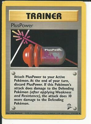 PlusPower Trainer 113/130 Uncommon Base Set 2 Pokemon