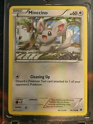 Minccino 86/124 - Common Pokemon Card - Fates Collide Set (2016) - NM