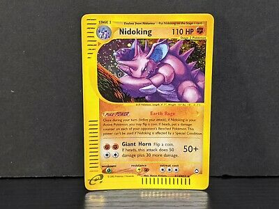 Nidoking H18/H32 Aquapolis Set HOLO RARE Pokemon Card LP