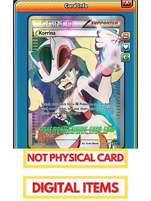Full Art Korrina FA 111/111 Pokemon TCG Online PTCGO Digital Card Furious Fists