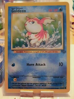 GOLDEEN - Jungle Set - 53/64 - Common - Pokemon Card - Unlimited Edition - LP