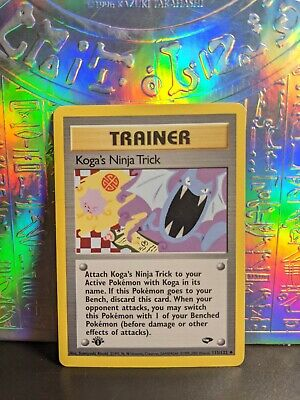 Koga's Ninja Trick - 115/132 - Pokemon Gym Challenge Trainer Card
