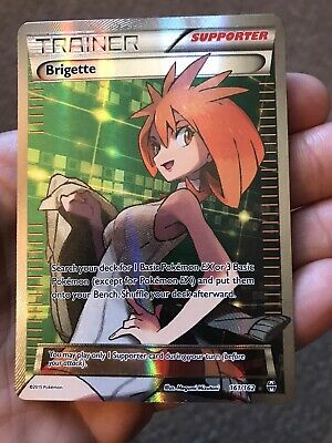 Brigette - 161/162 - Full Art Ultra Rare Nm Pokemon XY Breakthrough