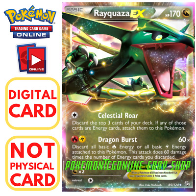 Rayquaza EX 85/124 for Pokemon TCG Online (PTCGO, Digital Card) Dragons Exalted