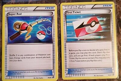 First Ticket 19/20 & Super Rod 20/20 Holographic Pokemon Cards   Dragon Vault