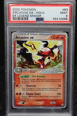 2006 Pokemon EX Legend Maker Holo Arcanine #83 PSA 8