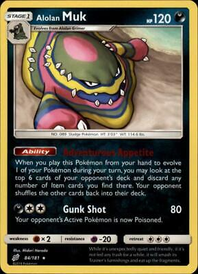 Alolan Muk 084 NM Sun and Moon Team Up Pokemon Card Tracked Shipping