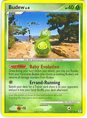 Budew 043 NM Parallel Foil Diamond and Pearl Pokemon Card Tracked Shipping