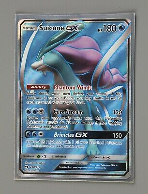 Pokemon Card Suicune GX #200 200/214 Lost Thunder 2017 [GS D3]