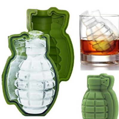 Ice Cube Trays 1/2/3/5Pc 3D Grenade