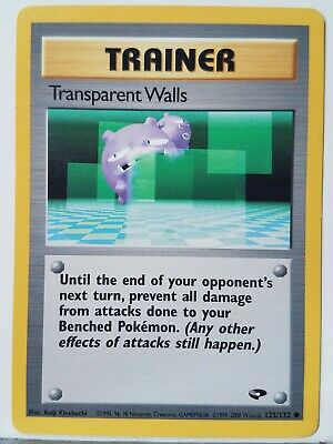 Transparent Walls 125/132 LP - Gym Challenge Pokemon Card - $1 Combined Shipping