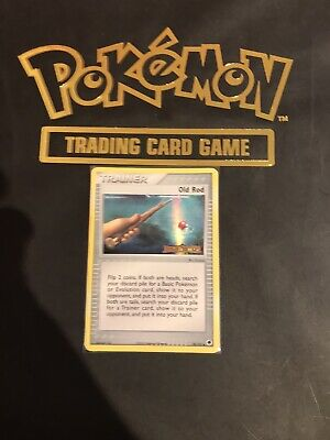 Old Rod 78/101 Reverse Holo Stamp Pokemon EX Dragon Frontiers 2006 NM/LP