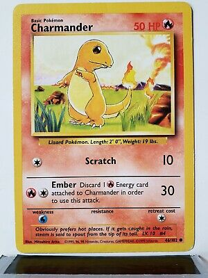 Charmander 46/102 - PL - Base Original 1999 Pokemon Card - $1 Combined Shipping