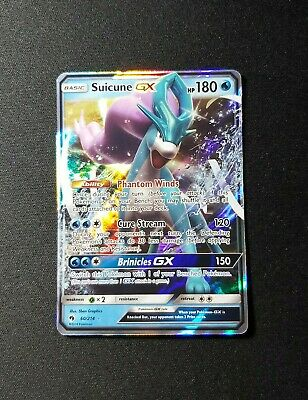 2018 Pokemon SM Lost Thunder Suicune GX 60/214 NM