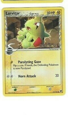EX Dragon Frontiers Reverse Holo Stamp Larvitar 52/101 Pokemon Trading Card NMT