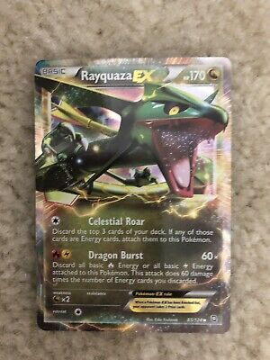 Rayquaza EX 85/124 Holo Foil -Pokemon TCG Dragons Exalted - Ultra Rare - NM
