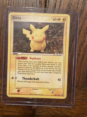 Ditto 39/113 Pikachu EX Delta Species Pokemon Card - lightly played condition
