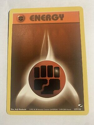 Fighting Energy - 127/132 Gym Challenge Set - Pokemon Energy Card