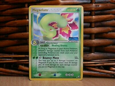 Pokemon MEGANIUM 9/115   HOLO RARE   MP Moderate Play   EX Unseen Forces   2005
