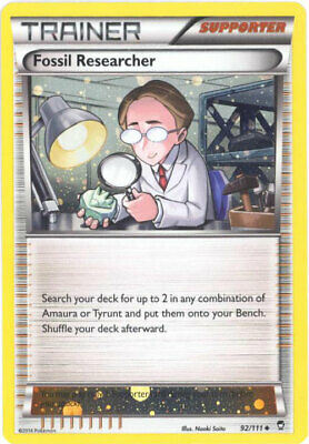 Pokemon Card - XY Furious Fists 92/111 - FOSSIL RESEARCHER (alternate holo-foil