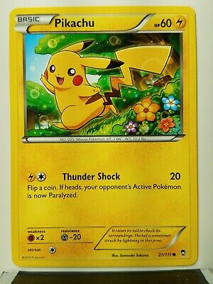 Pikachu 27/111 - VLP / NM - XY Furious Fists Pokemon Card - $1 Combined Shipping
