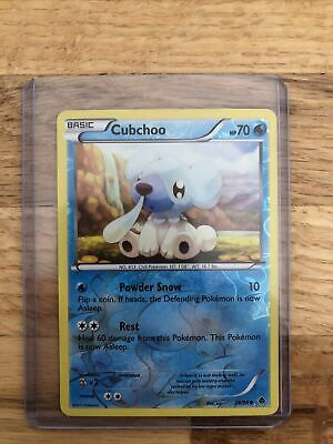 Cubchoo 28/98 Reverse Pokemon Black And White 2 Emerging Powers 2011
