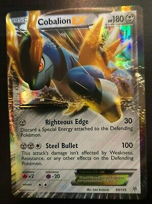 Cobalion EX 93/135 - Black & White Plasma Storm Ultra Rare Pokemon Card - NM