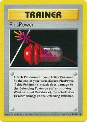 PlusPower - 84/102 - Uncommon (Shadowless) NM Base Set Pokemon 2B3