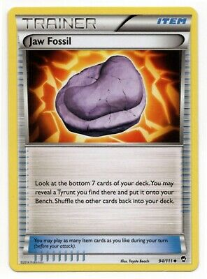 Jaw Fossil 94/111 Non Holo Furious Fists Trainer Pokemon Card