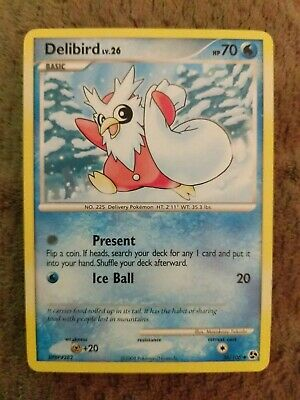 Pokemon Delibird Lv.26 36/106 Uncommon Nm Card  Great Encounters