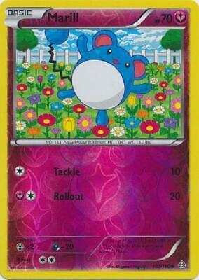 Marill - 102/160 - Common - Reverse Foil Near Mint Pokemon XY Primal Clash 2B3