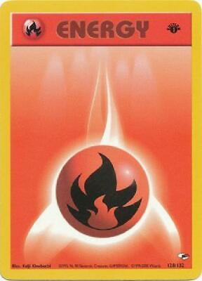 Fire Energy - 128/132 - Common 1st Edition Near Mint Gym Heroes Pokemon 2B3