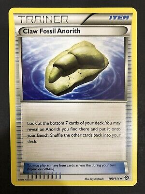 Pokemon Card, Claw Fossil Anorith 100/114, Uncommon, Steam Siege, NM/M