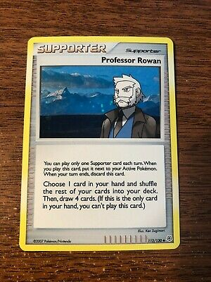 Pokemon Diamond & Pearl PROFESSOR ROWAN Holo 112/130 Uncommon Near Mint