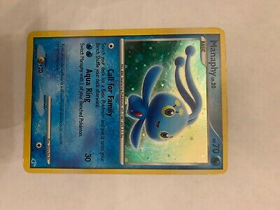 Manaphy Holo Pokemon Card Diamond and Pearl Trainer Kit 2007 4/12 LP/NM