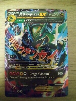 Pokemon MEGA M Rayquaza EX! 61/108  Roaring Skies! Ultra Rare Pokememon Card!
