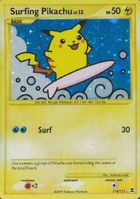 Surfing Pikachu - 114/111 - Ultra Rare NM Rising Rivals Pokemon 2B3