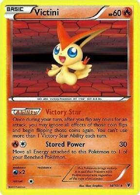 Victini - 14/101 - Holo Rare NM Noble Victories Pokemon