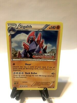 Gigalith 53/98 Holo Stamp Prerelease Emerging Powers Pokemon NM/LP