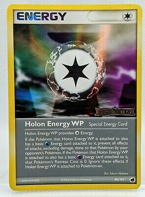 HOLON ENERGY WP 86/101 Holo STAMPED EX Dragon Frontiers Pokemon Card 2006 NM