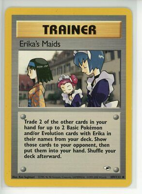 Erika's Maids 109/132 Pokemon TCG Gym Heroes Unlimited Uncommon LP/NM