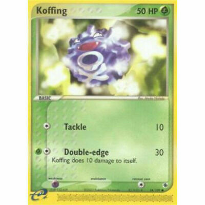 Pokemon KOFFING 54/109 UNCOMMON NM CARD  RUBY & SAPPHIRE