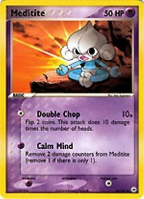 Meditite - 65/101 Common Ex Hidden Legends Pokemon Card EXC