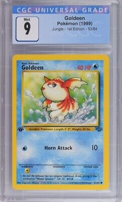 CGC 9 Pokemon Jungle 1st Edition GOLDEEN 53 / 64 Mint PSA 9