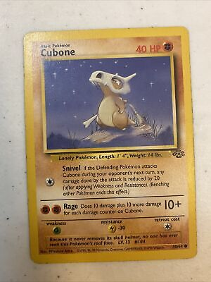 CUBONE - Jungle Set - 50/64 - Common - Pokemon Card - Unlimited Edition - LP